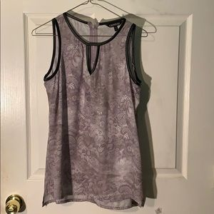 Express gray patterned tank top